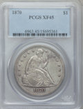 Seated Dollars, 1870 $1 XF45 PCGS....