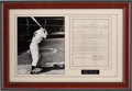 Autographs:Baseballs, 1951 Mickey Mantle Signed Contract for Stamped Baseballs....