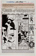 Original Comic Art:Splash Pages, Ron Frenz and Al Milgrom Thunderstrike #21 Splash Page 1(Avengers #1 Homage) Original Art (Marvel...