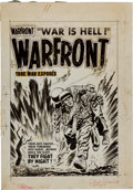 Original Comic Art:Covers, Lee Elias Warfront #21 Cover Original Art (Harvey, 1955)....