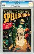 Golden Age (1938-1955):Horror, Spellbound #12 (Atlas, 1953) CGC FN/VF 7.0 Cream to off-whitepages....