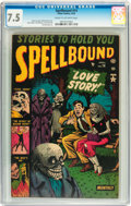 Golden Age (1938-1955):Horror, Spellbound #14 (Atlas, 1953) CGC VF- 7.5 Cream to off-whitepages....