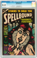 Golden Age (1938-1955):Horror, Spellbound #17 (Atlas, 1953) CGC VF 8.0 Cream to off-white pages....