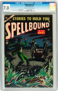 Golden Age (1938-1955):Horror, Spellbound #21 (Atlas, 1954) CGC FN/VF 7.0 Cream to off-whitepages....