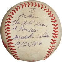 "The Famous ""Buckner Ball"" from the 1986 World Series, Game Six"