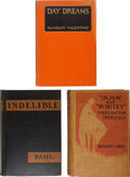 Books:Literature 1900-up, [Hollywood]. [Rudolph Valentino, Charlie Chaplin, et al.]. ThreeAssociation Copies of First Editions, including: Rudolph ...(Total: 3 Items)