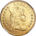 Early Half Eagles, 1795 $5 Small Eagle MS63 Prooflike NGC. BD-8, R.5....
