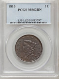 Large Cents, 1816 1C MS62 Brown PCGS. N-2, R.1....