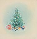 Mainstream Illustration, AMERICAN ARTIST (20th Century). Christmas illustrations (groupof five). Watercolor and gouache on board. 8 x 7.5 in.. N...(Total: 5 Items)