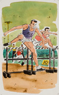Mainstream Illustration, AMERICAN ARTIST (20th Century). Brown & Bigelow sportscalendar illustrations (group of six). Watercolor and ink onboar... (Total: 6 Items)