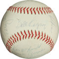 Autographs:Baseballs, 1961 Los Angeles Angels Team Signed Baseball (InauguralSeason!)....