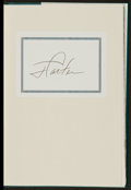 Autographs:Others, Jimmy Carter Signed Books Lot Of 3 (2 Signed)....