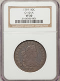 Early Half Dollars, 1797 50C VF30 NGC. O-101A. NGC Census: (8/710). PCGS Population(8/16). Mintage: 3,918. Numismedia Wsl. Price for problem f...