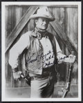 "Movie Posters:Western, John Wayne (1970s). Autographed Restrike Portrait Photo (8"" X 10"").Western.. ..."