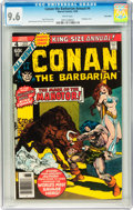 Bronze Age (1970-1979):Adventure, Conan the Barbarian Annual #4 Twin Cities pedigree (Marvel, 1978) CGC NM+ 9.6 White pages....