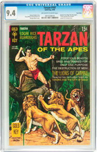 Tarzan #187 Twin Cities pedigree (Gold Key, 1969) CGC NM 9.4 Off-white to white pages