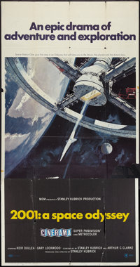 """2001: A Space Odyssey (MGM, 1968). Three Sheet (41"""" X 81"""") Cinerama Style. Science Fiction"""
