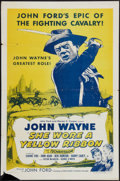 "Movie Posters:Western, She Wore a Yellow Ribbon (RKO, R-1957). One Sheet (27"" X 41""). Western.. ..."