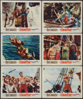 "Movie Posters:Adventure, The Crimson Pirate (Warner Brothers, 1952). Lobby Cards (6) (11"" X14""). Adventure.. ... (Total: 6 Items)"