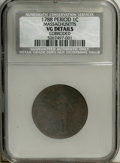 1788 1C Massachusetts Cent, Period--Corroded--NCS. VG Details. NGC Census: (0/0). PCGS Population (0/0). (#311)...(PCGS#...