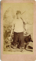 Photography:CDVs, UNUSUAL CARTE DE VISITE OF CINCINNATI AREA MINER. Studio image from Kelly's Photograph Gallery in Cincinnati (later... (Total: 1 Item)