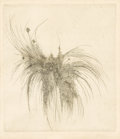 Prints:Contemporary, LEONARD BASKIN (American, 1922-2000). Fern. Etching, ed.48/60. 9in. x 7-3/4in.. Signed in pencil at lower right Baski...(Total: 1 Item)