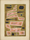 Prints:European Modern, ALFRED MANESSIER (French, 1911-1993). Absract Composition.Lithograph, ed. 99/200. 15-1/2in. x 10-1/4in.. Signed in penc...(Total: 1 Item)