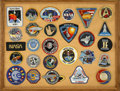 "Transportation:Space Exploration, Framed Display of 27 NASA and Space Exploration Souvenir Patches.Framed to an overall size of 25"" x 19"", and beautifully di...(Total: 27 Item)"