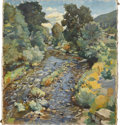 Fine Art - Painting, American:Modern  (1900 1949)  , Attributed to LEO BIRCHANSKY (American, 1887-1949). SummerStream, 1936. Oil on canvas. 26-1/4in. x 24in.. Signed atlow... (Total: 1 Item)