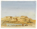 Fine Art - Painting, European:Contemporary   (1950 to present)  , Attributed to ROMANO GAZZEZA (Italian, 1906-1985). Morainic Landscape, 1958. Oil on canvas. 8-1/4in. x 10-1/2in.. Signed... (Total: 1 Item)
