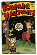 Golden Age (1938-1955):Funny Animal, Komic Kartoons #1 (Timely, 1945) Condition: VG/FN....