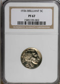 Proof Buffalo Nickels: , 1936 5C Type Two--Brilliant Finish PR67 NGC. NGC Census: (84/13).PCGS Population (108/6). Mintage: 4,420. Numismedia Wsl. ...