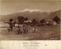 """Photography:Cabinet Photos, MEXICAN COWBOYS ON THE RANGE - EL IXTACCIHUAL - """"VISTAS MEXICANAS"""" BY ABEL BRIQUET - ca. 1880-1889.. This rare and beautiful... (Total: 1 Item)"""
