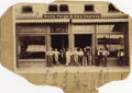 Photography:Cabinet Photos, LOT OF (3) WELLS, FARGO & COMPANY EXPRESS PHOTOGRAPHS - OFFICE ON MEXICAN BORDER - GROUP OF SPENCER RIFLE ARMED RAILROAD POLIC...
