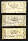 Obsoletes By State:Louisiana, Shreveport, LA- State of Louisiana $1 Mar. 1, 1864 Three Examples. ... (Total: 3 notes)