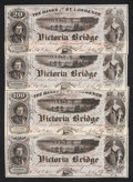 Canadian Currency: , Montreal. PQ- Banks of the St. Lawrence 20; 50; 100; 500 Views Ad Note circa 1860s. ... (Total: 4 notes)