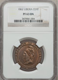 Liberia, Liberia: Republic Proof Cent 1862, ...