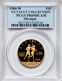 1984-W G$10 Olympic Gold Ten Dollar PR69 Deep Cameo PCGS. Ex: US Vault Collection. PCGS Population (7348/209). NGC Censu...