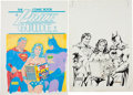 Original Comic Art:Covers, Don Newton and Joe Rubinstein Overstreet Comic Book PriceGuide #13 Cover Featuring Superman, Wonder Woman, and Ba...