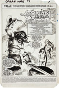 Original Comic Art:Splash Pages, John Buscema Marvel Comics Super Special #21 Conan theBarbarian Splash Page 1 Original Art (Marvel, 1982)....