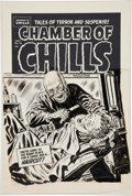 Original Comic Art:Covers, Lee Elias Chamber of Chills #18 Cover Original Art Group(Harvey, 1953)....