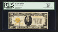 Small Size:Gold Certificates, Fr. 2402 $20 1928 Gold Certificate. PCGS Apparent Very Fine 25.. ...