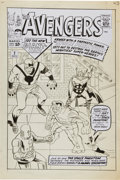 Original Comic Art:Covers, Angel Gabriele Avengers #2 Cover Re-Creation Original Art(undated)....