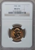 Washington Quarters, 1964 25C MS67 ★ NGC. Breen-4410....
