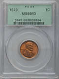 Lincoln Cents, 1923 1C MS66 Red PCGS....