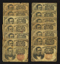 Fractional Currency:Fifth Issue, An Assortment of Fourteen 10¢ Fifth Issue Notes Good or Better..... (Total: 14 notes)