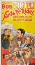 "Movie Posters:Western, Santa Fe Rides (Reliable, 1937). Three Sheet (41"" X 81""). Western.. ..."