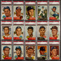 Baseball Cards:Lots, 1953 Topps Baseball PSA EX 5 Collection (15) With High Numbers. ...