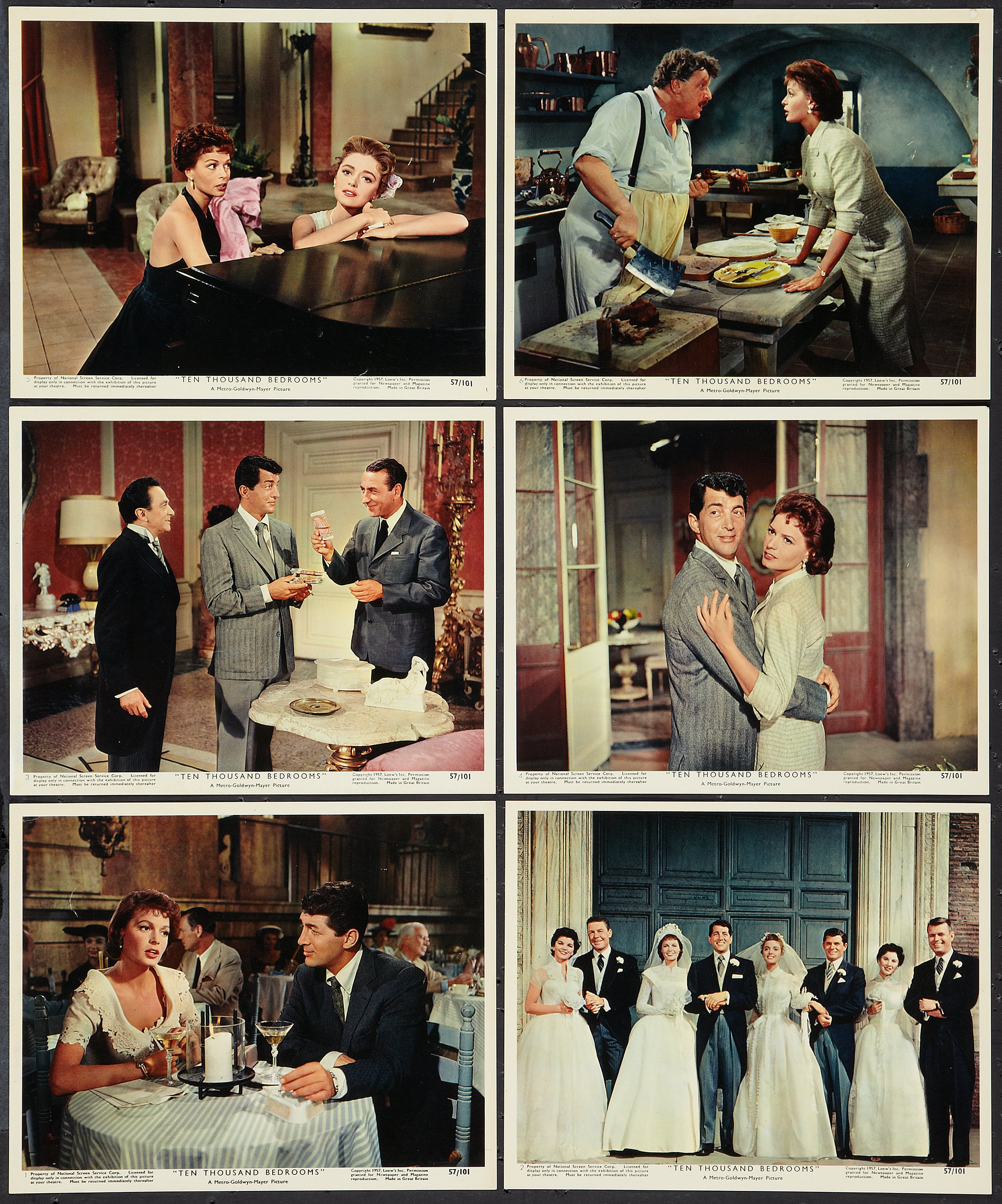 Ten Thousand Bedrooms Mgm 1957 Color Photo Set Of 12 8 X Lot 51488 Heritage Auctions