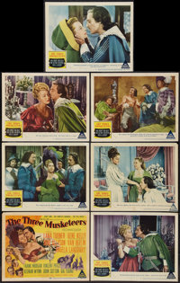 "The Three Musketeers (MGM, 1948). Title Lobby Card & Lobby Cards (6) (11"" X 14""). Swashbuckler. ... (Total..."